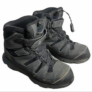 SALOMON Gray/Black Trekker Hiking Boots Size 6